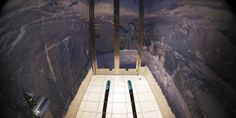 """The walls of a toilet are decorated with a mountain panorama wallpaper and skis on the floor at the """"Red Fox"""" restaurant in the winter sport resort of Rosa Khutor, a venue for the Sochi 2014 Winter Olympics. Happy Cartoon, Winter Olympics, Winter Sports, Cool Photos, Funny Pictures, Funny Memes, Hilarious, Lol, Entertainment"""