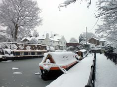 The bridgewater canal in the snow