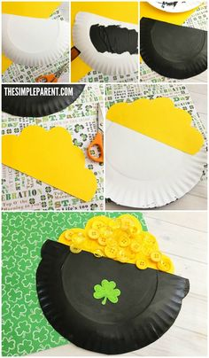 This Easy Pot of Gold Craft for Kids to Celebrate St. Try This Easy Pot of Gold Craft for Kids to Celebrate St. Patrick's Day!Try This Easy Pot of Gold Craft for Kids to Celebrate St. Patrick's Day! March Crafts, St Patrick's Day Crafts, Daycare Crafts, Classroom Crafts, Spring Crafts, Preschool Crafts, Kids Crafts, Kids Diy, Craft Projects