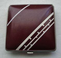 STUNNINGLY Beautiful ART DECO Vintage COMPACT Geometric DESIGNS Free US Shipping
