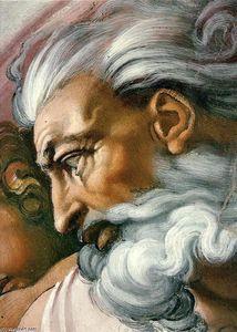 Creation of Adam, Frescoes by Michelangelo Buonarroti (1475-1564, Italy)