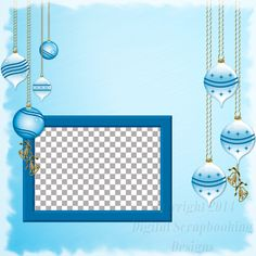 """Layout QP 16B.....Quick Page, Blue, Digital Scrapbooking, Christmas Time Collection, 12"""" x 12"""", 300 dpi, PNG File Format"""