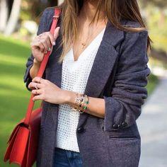 Blazer over knit