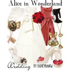 Alice Wedding by Disneybound