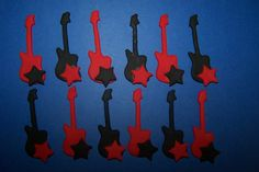 Edible Guitar Cupcake Fondant Toppers by TheCakeDiva on Etsy, $8.95