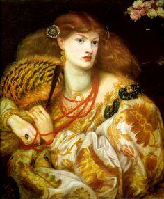 Dante Gabriel Rossetti (1828-1882)  Monna Vanna  Oil on canvas  1866