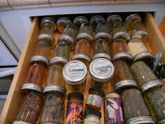 Organizing  site  My Spice Drawer  http://pinterest.com/robinswife/organization-tips/
