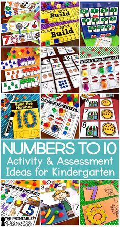 Click through to find a Numbers to 10 Assessment FREEBIE and activities that are just perfect for Kindergarten and PreK. In this post you'll find the assessment for numbers to 10 freebie, counting activities, whole group games, math centers, and much more! Activities are year round so use them for back to school or throughout the year. All perfect for the lower primary, Pre-K, and Kindergarten classroom. #classroom #school #reading #teacher #kindergarten #firstgrade