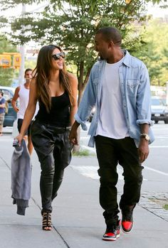 most fashionable couple that aren't scared to try anything once Kim & Kanye...love it!!