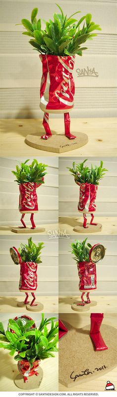 #Recycle #Toy #CAN #DIY / #Coke #CocaCola #Flower #Robot #Machine / 2013