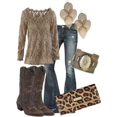 Love the boots, shirt and jeans by diana