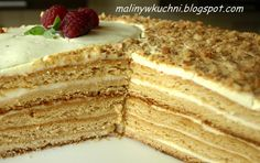 ciasto miodowe Polish Food, Polish Recipes, Honey Cake, Tarts, Sweet Recipes, Drink, Ethnic Recipes, Mince Pies, Pies
