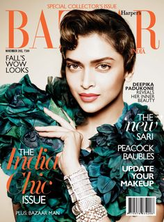 We asked the beauty editors from Harper's BAZAAR editions worldwide to give us their country's best tips and tricks. Fashion Cover, Glamour Magazine, Bollywood Celebrities, Bollywood Actress, Harpers Bazaar, Deepika Padukone, Cover Pages, Beauty Secrets, Beauty Tips