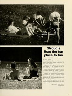 "Athena yearbook, 1995. ""Stroud's Run: the fun place to tan"". :: Ohio University Archives"