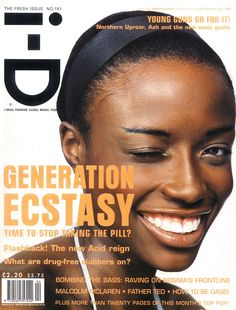 The Fresh Issue April 1996 Lorraine Pascale Photography by Craig McDean Styling by Edward Enninful 151 Black Supermodels, Id Cover, Cover Art, Carter Smith, Id Magazine, Edward Enninful, Father Ted, Terry Jones, Gap Teeth