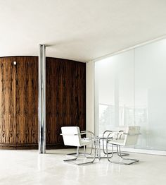 Impeccable Mies. Interior of the Tugendhat House in Brno by Ludwig Mies van der Rohe. Photo by Samuel Ludwig.