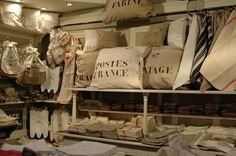 In our upcycled artists profiles: pillows, tea towels and more from L'Atelier Du Presbytere.