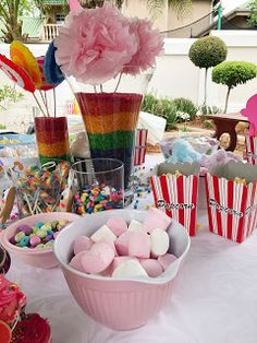 Our Candy Land Party I was looking for an easy theme and I definitely found it, Candy Land was so fun and simple to plan and execute, . Candy Land, Landing, Party Ideas, Table Decorations, Simple, Desserts, Fun, Life, Tailgate Desserts
