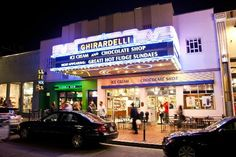 Ghirardelli Ice Cream & Chocolate Shop - This one's i San Diego, but I've been in Monterey and in San Fran