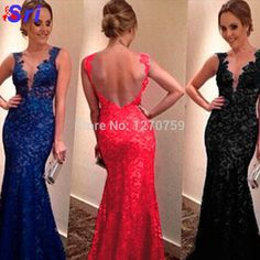 Find More Prom Dresses Information about Women Long Lace Blue Dress Sexy V Neck Backless Lace Party Dresses Vestidos De Festa Elegant Long Evening Dress For Women,High Quality dress mini,China dress shoes tall women Suppliers, Cheap dresses casual from Sritrade International Co., Ltd on Aliexpress.com