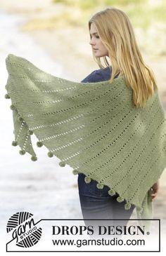 Valley Girl knitted shawl pattern, free from Garnstudio