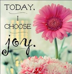 Today i choose joy life quotes flower life happiness joy