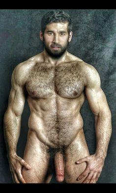 Sexy hairy naked man