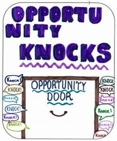 picture about sermon called opportunity knocks drawn by a child aged 12 or under as part of BrixKidz Picture Preachers competition www.brixkidz.org