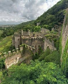 The abandoned Gwrych Castle near Abergele in North Wales.