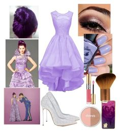 """""""My descendants mal set it off outfit#setitoff"""" by theparisvogue ❤ liked on Polyvore featuring Casadei and Yves Saint Laurent"""