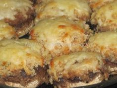 """Shrimp Stuffed Mushrooms - My daughter and I threw these together one evening when we were having a little """"girls night in""""."""