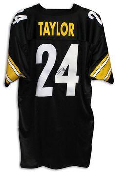 c9cbf9020 ... Ike Taylor Pittsburgh Steelers Autographed Black Jersey ...