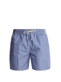 260f77809dff8 Polo Ralph Lauren Gingham swim shorts Swim Shorts, Gingham, Swim Trunks, Polo  Ralph