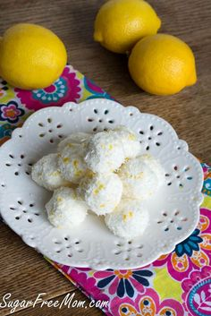 These little lemony truffles are a no bake dessert that is not only sugar free, but gluten free and low carb too!