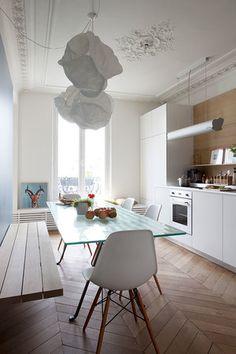 unfitted kitchen design. Projet Paris Desiron Lizen Photographie Guillaume Dutreix Paris14 Jpg Dining Room Designs  Furniture And Decorating Ideas Http Home