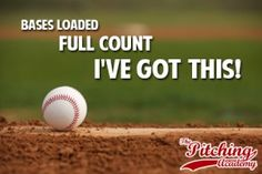 Baseball Quotes: Pitch With Confidence! Baseball Motivation; learn more at The Pitching Academy! Sport Quote