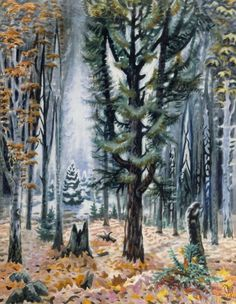 CHARLES BURCHFIELD Hemlock in November (1947-66)