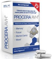 Procera AVH is a brain supplement which according to the manufacturing company is focused on improving the performance of the brain and on enhancing mood.  http://www.brainreference.com/procera-avh/
