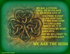 We are the Irish.