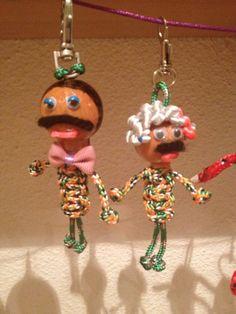 Dos muñeco de 10 cm