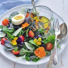 Um luxo! Tem receita de salada com flores de amor perfeito no blog. Faz parte do nosso jardim de outono. Link na bio. #jardimparatodososgostos #viveromelhordavida #receita by estofadosjardim http://ift.tt/20qCidG