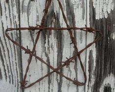 Cow Handmade metal decor barbed wire art by BarbedWireArtist