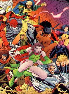X-Men Age of Apocalypse. Blink, Gambit, Colossus, Quicksilver,Nightcrawler