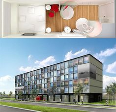 """The Phillips so-called """"One Star Is Born"""" high-tech hotel project may be the wave of the future, based as much on economic savings as on technological innovation. The Citizenm hotel in Amsterdam is a test version including ready-made rooms that are jacked into a grid when a customer arrives and set to their preset preferences. In theory, this will provide greater customization for the user while reducing costs."""