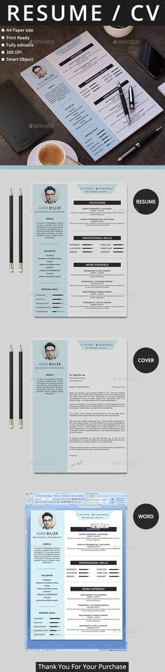 Resume Template PSD #design Download…
