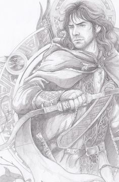 Kili - http://loobeeinthesky.tumblr.com/page/2 -- I may not agree with the portrayal of Kili in Peter Jackson´s The Hobbit, but this is a pretty nifty drawing :)