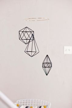 Geometric mobile by NiftyNeat on Etsy https://www.etsy.com/listing/194212009/geometric-mobile