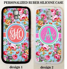 CORAL PINK VINTAGE SHABBY FLOWER CUSTOM MONOGRAM Case For Samsung Galaxy S8 NOTE #UnbrandedGeneric
