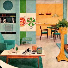 vintage mid century turquoise design 1953 advertisement