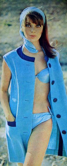 Magdorable!: Summer blue beach fashion, Margriet (Dutch) July 1966
